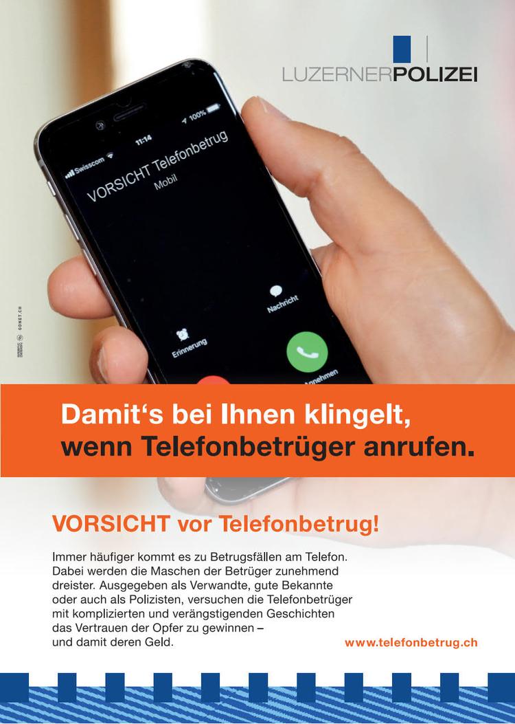 Vorsicht vor Telefonbetrug!